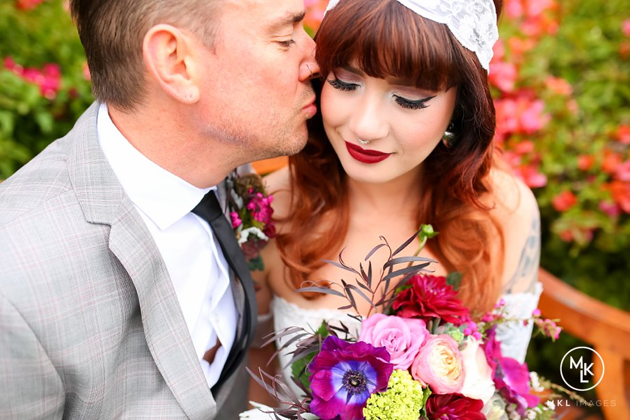 Tattoos and Lace Rustic Wedding | Carlsbad Flower Fields | Carlsbad, CA